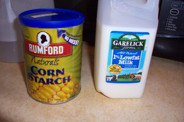 Now mix the corn starch and water, milk, or cream and slowly add some...