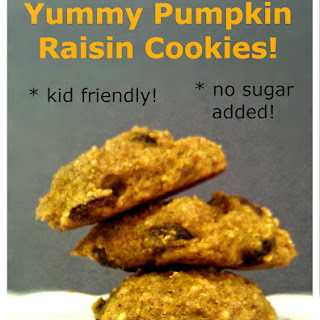 Yummy No Sugar Pumpkin Raisin Cookies
