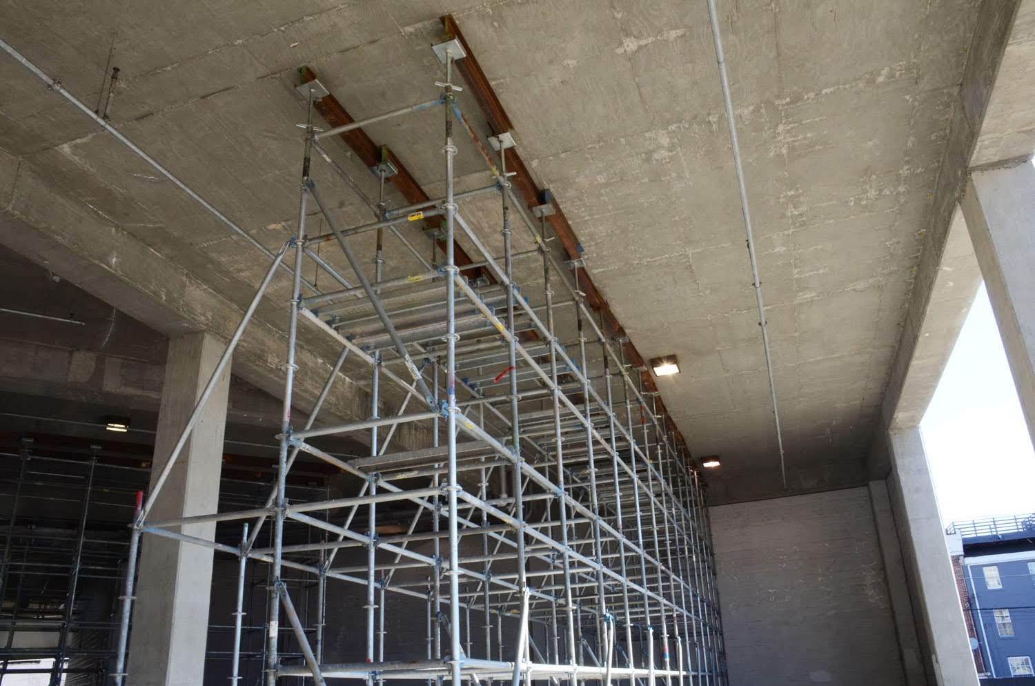 shoring, superior scaffold, scaffolding, scaffold rental, pa, Philadelphia, philly, garage