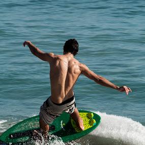 Beach Boarding by Werner Booysen - Sports & Fitness Watersports ( colour, boarding, beach, man, werner booysen,  )