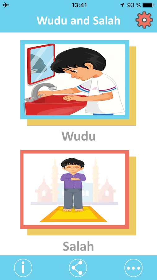 Muslim kids guide Salah & Wudu- screenshot