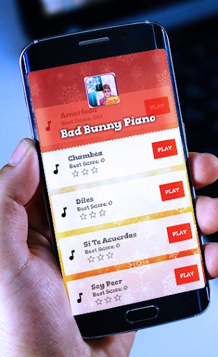 Piano Bad Bunny Tiles songs screenshot 3