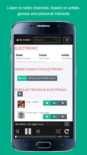 CLiGGO MUSIC – Free Radio & Music Streaming App 1.5.5 screenshots 2