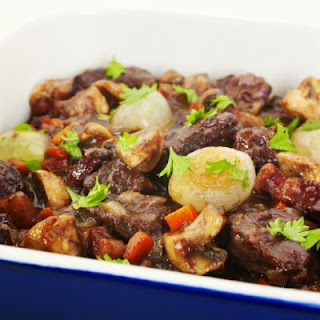 Hearty French Beef Stew With Wine In The Crockpot