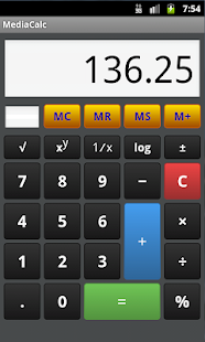 MediaCalc - Pocket Calculator- screenshot thumbnail