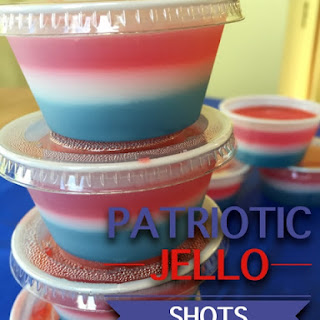 Patriotic Jello Shots for the 4th of July.