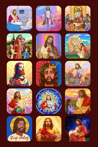 Bible Coloring - Paint by Number, Free Bible Games - screenshot