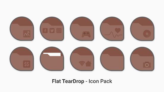 Download Flat TearDrop - Icon Pack For PC Windows and Mac apk screenshot 5