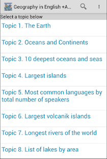 Geography Amazing Facts +Audio- screenshot thumbnail