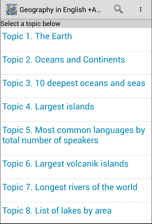 Geography Amazing Facts +Audio- screenshot