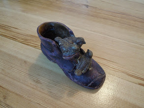 Photo: керамический ботиночек - подставка для карандашей от Е.В.Шипович