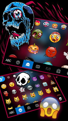 Scary Skull Graffiti Keyboard Theme screenshot 3