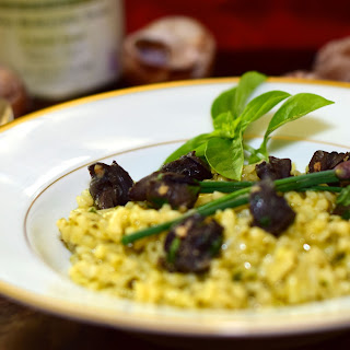 Basil Risotto with Escargot