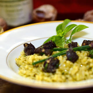 Basil Risotto with Escargot.