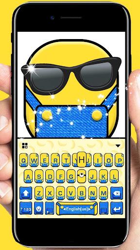 Cartoon Yellow Me Keyboard Theme 1.0 screenshots 1