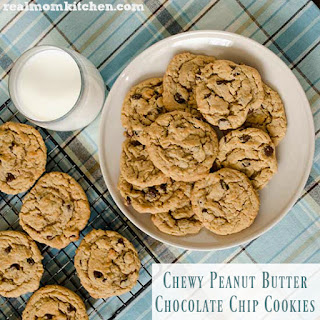 Chewy Peanut Butter Chocolate Chip Cookies.