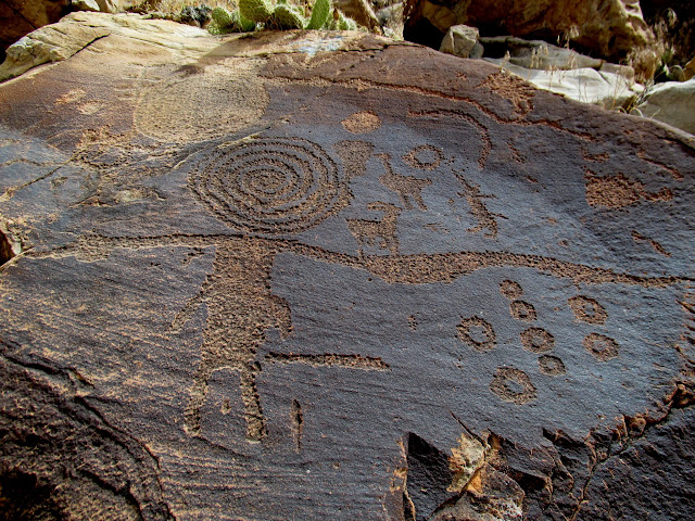 Some unusual petroglyphs