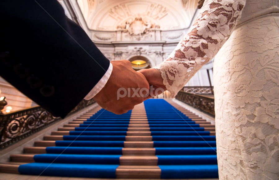 Walking to ceremony by Michael Keel - Wedding Other ( city hall, latin wedding, san francisco city hall, ceremony wedding )