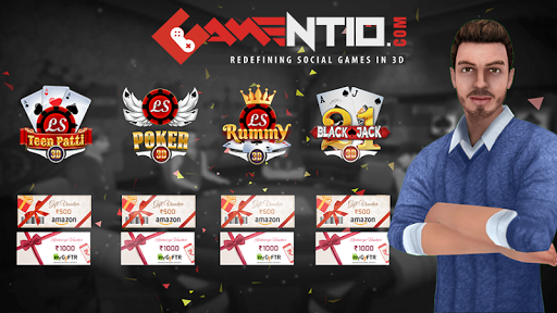 Gamentio 3D: Teen Patti Poker Rummy Slots +More 1.1.43 screenshots 6