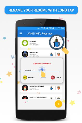 download pocket resume builder app