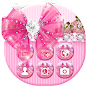Bowtie Glitter Launcher theme: Princess Theme APK icon