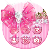Bowtie Glitter Launcher theme: Princess Theme