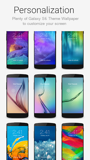 Lock Screen Galaxy Theme screenshot 2