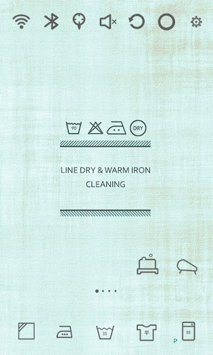 Washing Life Pale tone Theme