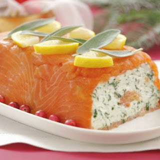 Festive Sliced Fish and Cream Cheese Loaf