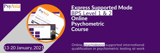 Psychometric Assessment at Work / BPS Level 2 Personality / Online Supported Intake