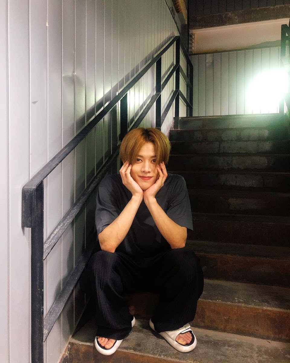 yuta on some stairs