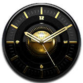 VARGO Designer Clock Widget black gold