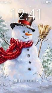 Christmas Snowman Lock Screen - náhled