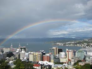 Photo: Rainbow over Wellington, 26 Oct 2009.