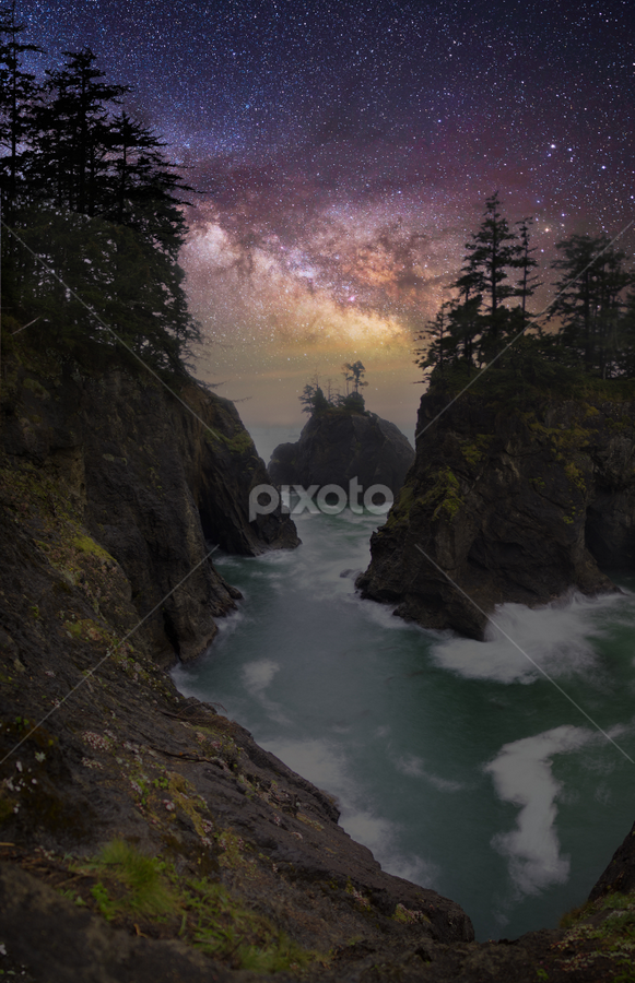 Samuel Boardman State Cooridor, Brookings, OR by Andy Taber - Landscapes Starscapes