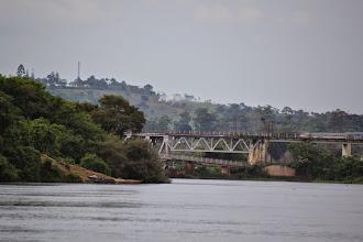 Photo: Jinja bridge, just below the source of the Nile