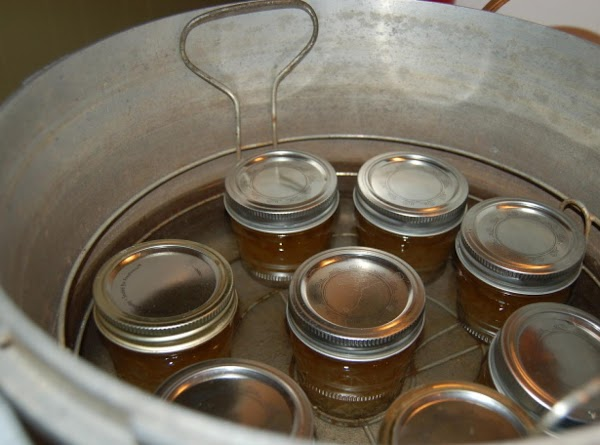 Now process in boiling water for 10 minutes. Remove and set jar on counter...