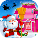 Christmas House Clean up Time : Decoration Game icon