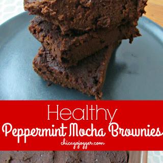 Healthy Peppermint Mocha Brownies.