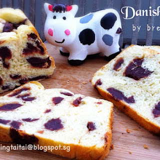 Danish Yogurt Breadmaker Loaf With Red Bean Paste