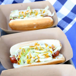 BBQ Hot Dogs with Coleslaw.