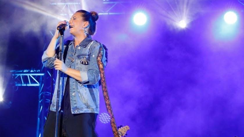 Niña Pastori, durante el concierto que ofreció el martes.