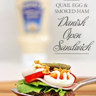 Micro Quail Egg & Smoked Ham Danish Open Sandwich