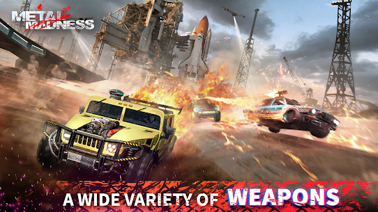 METAL MADNESS PvP: Car Shooter & Twisted Action MOD (Damage) 1