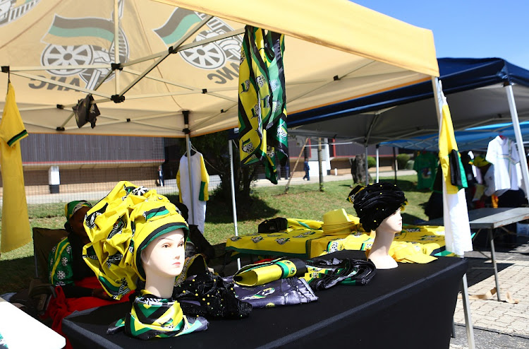 ANC regalia being sold on the sidelines of the 54th ANC Elective National Conference taking place in Nasrec.