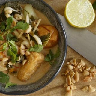 Prawn And Tofu Noodle Soup.