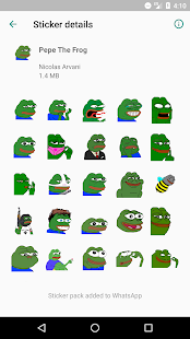 Pepe The Frog Sticker Pack for WhatsApp Screenshot