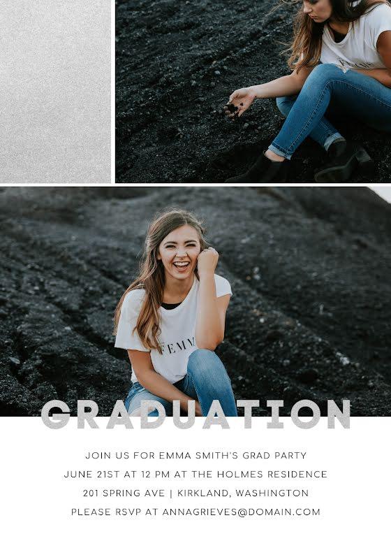 Emma's Graduation Party - Graduation Announcement Template
