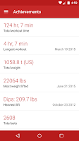 Screenshot of Redy Gym Log - Workout Tracker