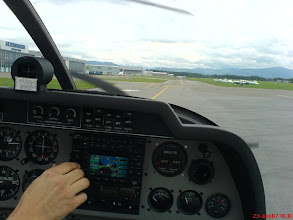 Photo: Taxiing to the holding point in St. Gallen http://www.swiss-flight.net